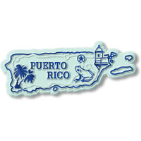Puerto Rico Map Magnet by Classic Magnets, Collectible Souvenirs Made in the USA