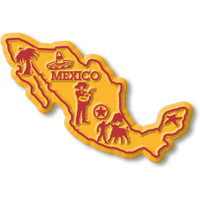 Mexico Map Magnet by Classic Magnets, Collectible Souvenirs Made in the USA