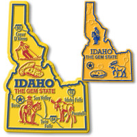 Idaho State Map Giant & Small Magnet Set by Classic Magnets, 2-Piece Set, Collectible Souvenirs Made in the USA