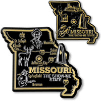 Missouri State Map Giant & Small Magnet Set by Classic Magnets, 2-Piece Set, Collectible Souvenirs Made in the USA