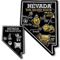 Nevada State Map Giant & Small Magnet Set by Classic Magnets, 2-Piece Set, Collectible Souvenirs Made in the USA