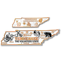 Tennessee State Map Giant & Small Magnet Set by Classic Magnets, 2-Piece Set, Collectible Souvenirs Made in the USA