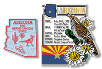 Arizona State Montage and Small Map Magnet Set by Classic Magnets, 2-Piece Set, Collectible Souvenirs Made in the USA