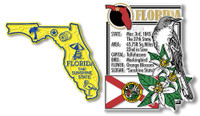 Florida State Montage and Small Map Magnet Set by Classic Magnets, 2-Piece Set, Collectible Souvenirs Made in the USA