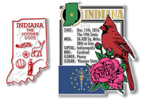 Indiana State Montage and Small Map Magnet Set by Classic Magnets, 2-Piece Set, Collectible Souvenirs Made in the USA