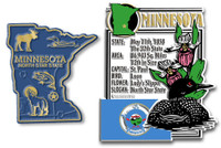 Minnesota State Montage and Small Map Magnet Set by Classic Magnets, 2-Piece Set, Collectible Souvenirs Made in the USA