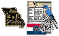 Missouri State Montage and Small Map Magnet Set by Classic Magnets, 2-Piece Set, Collectible Souvenirs Made in the USA