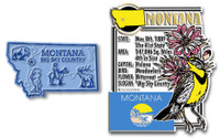 Montana State Montage and Small Map Magnet Set by Classic Magnets, 2-Piece Set, Collectible Souvenirs Made in the USA