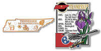 Tennessee State Montage and Small Map Magnet Set by Classic Magnets, 2-Piece Set, Collectible Souvenirs Made in the USA