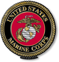 U.S. Marine Corps Seal Magnet by Classic Magnets, Collectible Souvenirs Made in the USA