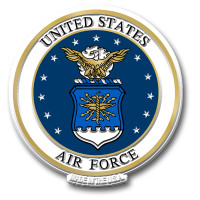 U.S. Air Force Seal Magnet by Classic Magnets, Collectible Souvenirs Made in the USA