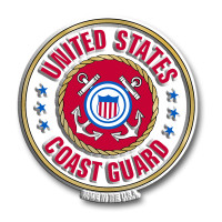 U.S. Coast Guard Seal Magnet by Classic Magnets, Collectible Souvenirs Made in the USA