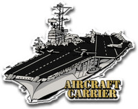 U.S. Aircraft Carrier Magnet by Classic Magnets, Collectible Souvenirs Made in the USA