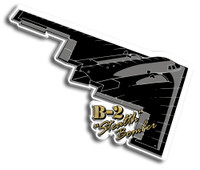 B-2 Stealth Bomber Magnet by Classic Magnets, Collectible Souvenirs Made in the USA