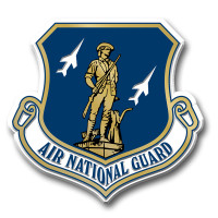 Air National Guard Seal Magnet by Classic Magnets, Collectible Souvenirs Made in the USA