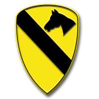 1st Cavalry Division Insignia Magnet by Classic Magnets, Collectible Souvenirs Made in the USA