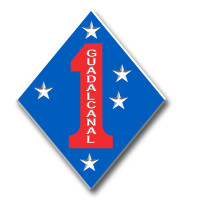 1st Marine Division Insignia Magnet by Classic Magnets, Collectible Souvenirs Made in the USA