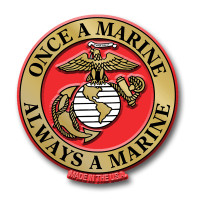 """""""Once a Marine, Always a Marine"""" Magnet by Classic Magnets, Collectible Souvenirs Made in the USA"""