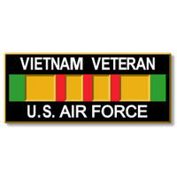 Vietnam Veteran - U.S. Airforce Magnet by Classic Magnets, Collectible Souvenirs Made in the USA
