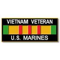 Vietnam Veteran - U.S. Marines Magnet by Classic Magnets, Collectible Souvenirs Made in the USA