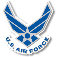 U.S. Air Force Wings & Star Logo Magnet by Classic Magnets, Collectible Souvenirs Made in the USA