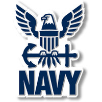 U.S. Navy Eagle and Anchor Magnet by Classic Magnets, Collectible Souvenirs Made in the USA