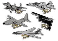 U.S. Miltary Plane Magnet Set by Classic Magnets, 5-Piece Set, Collectible Souvenirs Made in the USA