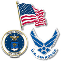 U.S. Air Force Magnet Set by Classic Magnets, 3-Piece Set, Collectible Souvenirs Made in the USA