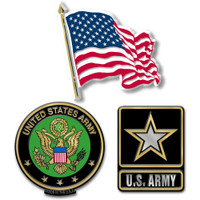 U.S. Army Magnet Set by Classic Magnets, 3-Piece Set, Collectible Souvenirs Made in the USA