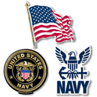 U.S. Navy Magnet Set by Classic Magnets, 3-Piece Set, Collectible Souvenirs Made in the USA