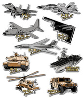 Military Vehicle Magnet Set by Classic Magnets, 9-Piece Set, Collectible Souvenirs Made in the USA