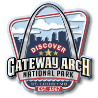 Gateway Arch National Park Magnet by Classic Magnets, Discover America Series, Collectible Souvenirs Made in the USA