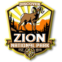 Zion National Park Magnet by Classic Magnets, Discover America Series, Collectible Souvenirs Made in the USA