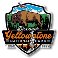 Yellowstone National Park Magnet by Classic Magnets, Discover America Series, Collectible Souvenirs Made in the USA