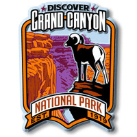 Grand Canyon National Park Magnet by Classic Magnets, Discover America Series, Collectible Souvenirs Made in the USA