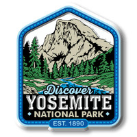 Yosemite National Park Magnet by Classic Magnets, Discover America Series, Collectible Souvenirs Made in the USA