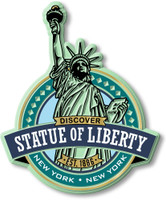 Statue of Liberty Magnet by Classic Magnets, Discover America Series, Collectible Souvenirs Made in the USA