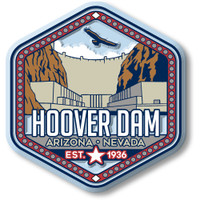 Hoover Dam Magnet by Classic Magnets, Discover America Series, Collectible Souvenirs Made in the USA