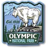 Olympic National Park Magnet by Classic Magnets, Discover America Series, Collectible Souvenirs Made in the USA