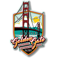 Golden Gate NRA Magnet by Classic Magnets, Discover America Series, Collectible Souvenirs Made in the USA