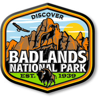 Badlands National Park Magnet by Classic Magnets, Discover America Series, Collectible Souvenirs Made in the USA