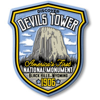Devils Tower National Monument Magnet by Classic Magnets, Discover America Series, Collectible Souvenirs Made in the USA