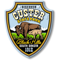 Custer State Park Magnet by Classic Magnets, Discover America Series, Collectible Souvenirs Made in the USA