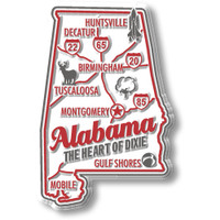 """Alabama Premium State Magnet by Classic Magnets, 1.8"""" x 2.8"""", Collectible Souvenirs Made in the USA"""