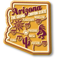 """Arizona Premium State Magnet by Classic Magnets, 2"""" x 2.3"""", Collectible Souvenirs Made in the USA"""