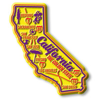 """California Premium State Magnet by Classic Magnets, 2.6"""" x 3.2"""", Collectible Souvenirs Made in the USA"""