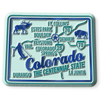 """Colorado Premium State Magnet by Classic Magnets, 2.3"""" x 1.8"""", Collectible Souvenirs Made in the USA"""