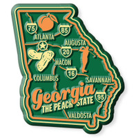 """Georgia Premium State Magnet by Classic Magnets, 2.2"""" x 2.5"""", Collectible Souvenirs Made in the USA"""