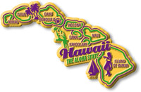"""Hawaii Premium State Magnet by Classic Magnets, 4.1"""" x 2.6"""", Collectible Souvenirs Made in the USA"""