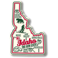 """Idaho Premium State Magnet by Classic Magnets, 3"""" x 3.6"""", Collectible Souvenirs Made in the USA"""